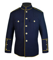 Navy HG Jacket with Full Gold Trim