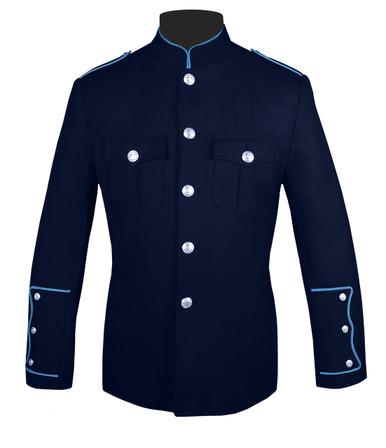 Navy Honor Guard Jacket w/ Medium Blue Trim