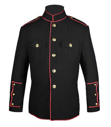Black w/ Full Red Trim Firefighters HG Jacket