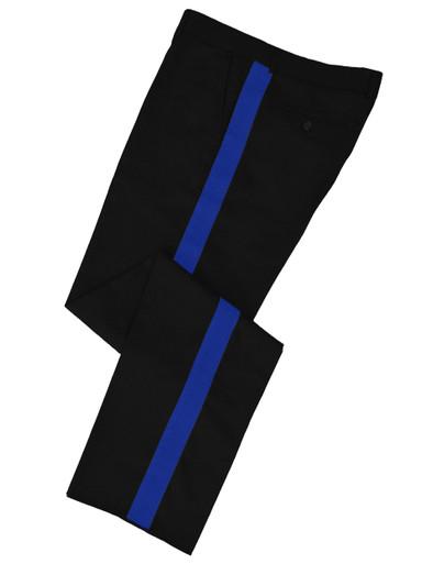 Black w/ Royal Blue Stripe Honor Guard Pants
