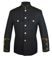 Black Honor Guard Jacket w/ Gold Trim