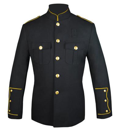 Black Honor Guard Jacket w/ Gold Trim