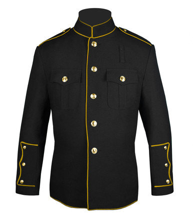 Black HG Jacket with Full Gold Trim