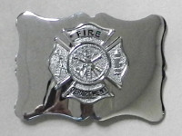 Chrome Maltese Belt Buckle