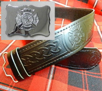 Chrome Maltese Buckle & Belt