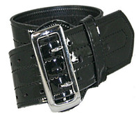 Boston Leather Sam Browne belt Clarino 4 stitch
