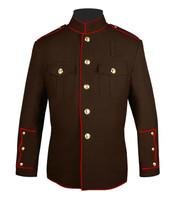 Brown & Red Hi Collar Honor Guard Coat