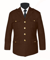 Single Breasted Honor Guard Jacket Brown
