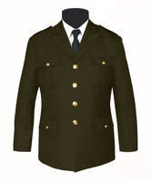 Single Breasted Honor Guard Jacket Olive Green