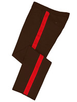 Dark Brown HG pants with red trim