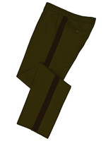 Olive Green Honor Guard Pants w/ Brown Trim