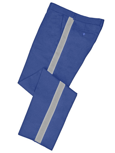Lt Blue Honor Guard Pants w/ Silver Trim