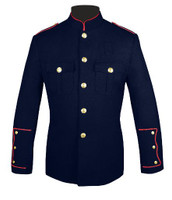 High Collar Honor Guard Jacket Navy/Red