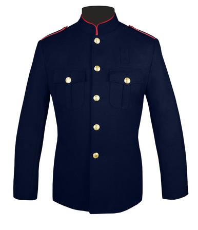 Fire Dept Honor Guard Jacket w/ Plain Sleeves