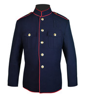 Navy and Red Honor Guard Jacket