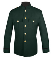 Dark Green Honor Guard Jacket w/ Black Trim