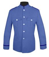 Lt Blue Honor Guard Jacket w/ Navy Flat Trim