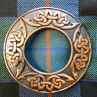 Bronze Celtic Plaid Brooch