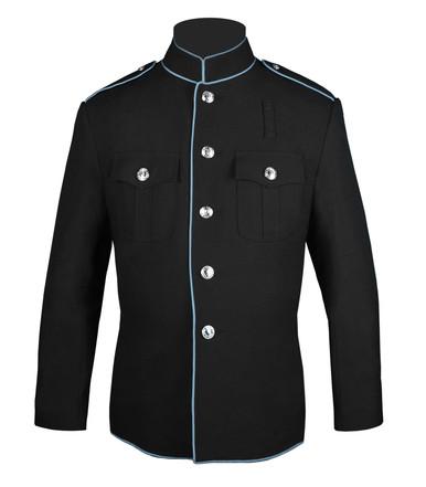 HG Jacket Black w/ Powder Blue Trim