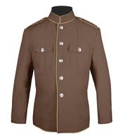 High Collar coat tan and beige