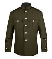 Olive and Black High Collar Jacket