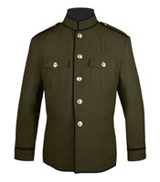High Collar Jacket Olive and Black