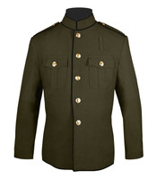 High Collar Honor Guard Jacket Olive and Black