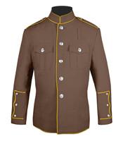 Tan and Gold High Collar Jacket