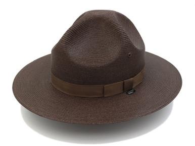 Dark Brown Stratton Straw Hat