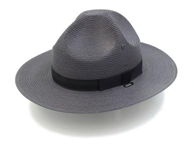 Graphite Grey Stratton Straw Campaign Hat
