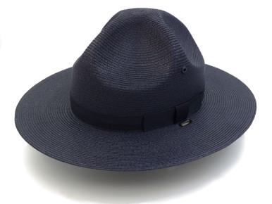 Navy Blue Stratton Straw Campaign Hat