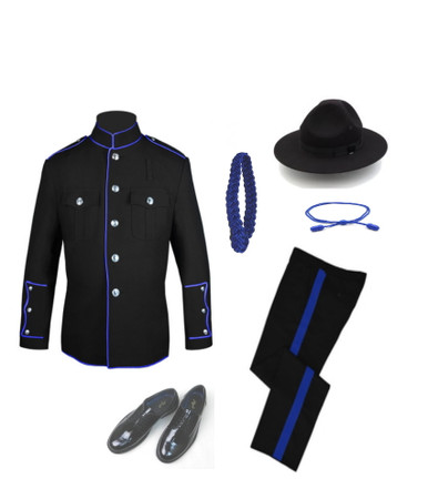 Black and Royal High Collar Uniform
