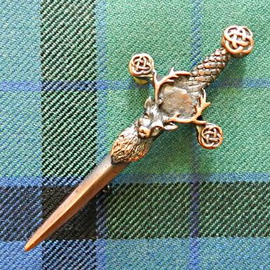 Bronze Stag Kilt Pin
