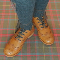 Tan Leather Ghillie Brogues