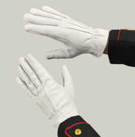 White Leather Honor Guard Gloves