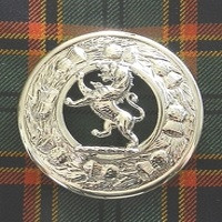 Plaid Brooch with Rampant Lion