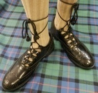 Ghillie Brogues (Leather w/ Rubber Sole) Black