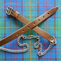 Brown & Silver Sporran Chain