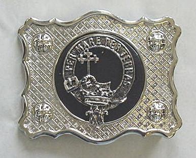 Clan kilt belt buckle