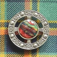 Heathergem Celtic Brooch