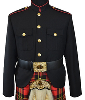 Class A Honor Guard Kilt Jacket (Black/Red)