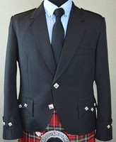 Daywear Argyle Kilt Jacket (Black)