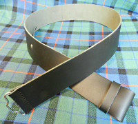Smooth Leather Kilt Belt