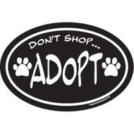 """Don't Shop... Adopt"" Magnet"