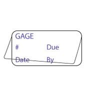 Self Laminating Gage Labels