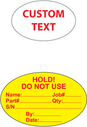 CL1001 Ovals Custom Roll Labels