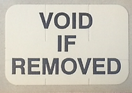 "3/4"" Void if Removed - Tamper Proof Seal"