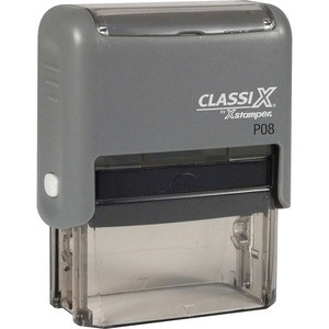 """P08 ClassiX Self-Inking Message Stamp 3/4"""" x 1-7/8"""""""