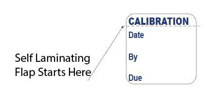 Self Laminating Calibration Labels