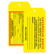 Custom Tear Resistant Tags - Notched Corners (as low as .37 each)